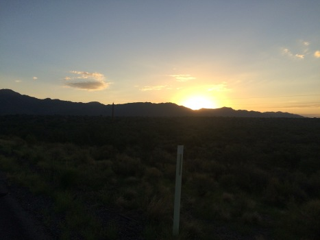 Sunrise over Yarnell Grade