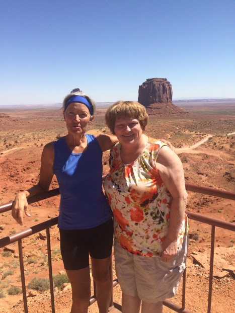 Susie and me at The View Monument Valley